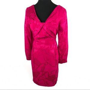 Gorgeous 100% silk vintage 80's cocktail dress